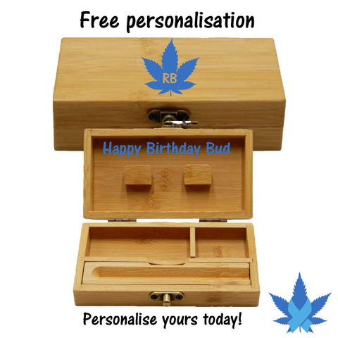 personalised wooden rolling box