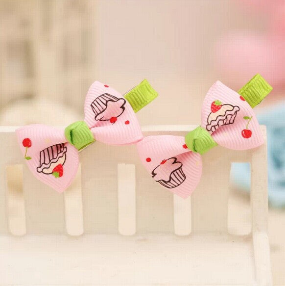 Cupcakes & Lollipops Bow Hair Clips