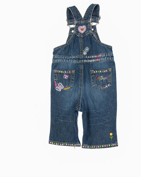 3-6 Months Girls Overall Jeans