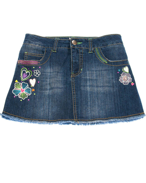 10-12 Girls Denim Skirt