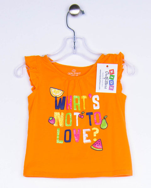 18 Months Girls Top, Short Sleeves by Okie Dokie