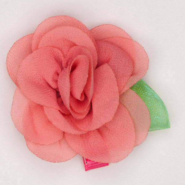Kidz Outfitters 2.5 Inches Flower Hair Clips by Kidz Outffiters - KidzOutfitters.com Item  C1200004 Salmon