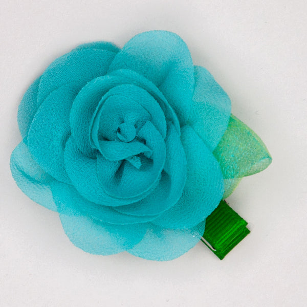 Kidz Outfitters 2.5 Inches Flower Hair Clips by Kidz Outffiters - KidzOutfitters.com Item  C1200004 Teal