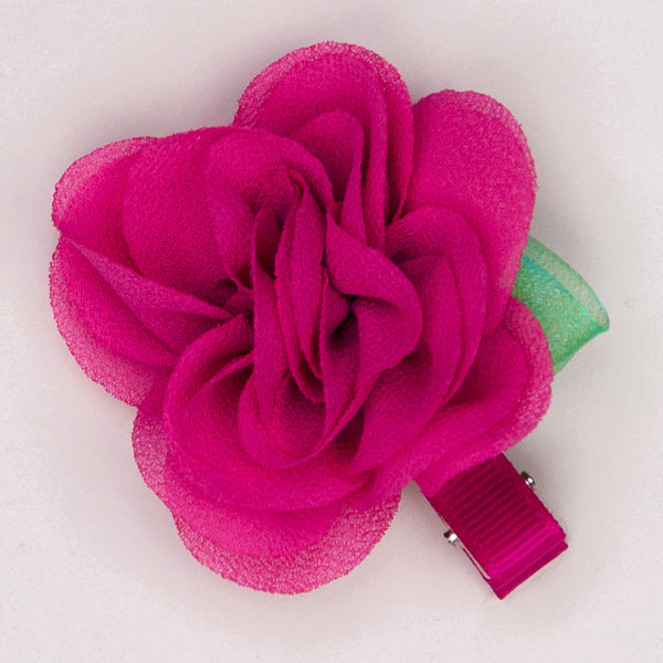 Kidz Outfitters 2.5 Inches Flower Hair Clips by Kidz Outffiters - KidzOutfitters.com Item  C1200004 Fuchsia