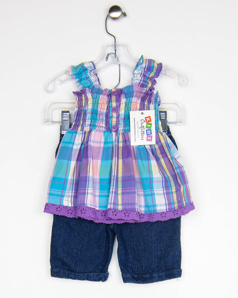 Kidz Outfitters 24 Months Outfit - Top & Shorts by Young Hearts - KidzOutfitters.com Item A1608056