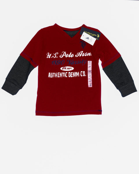Kidz Outfitters 2T Shirts, Long Sleeves by U. S. Polo Association - KidzOutfitters.com Item #:  A1202690