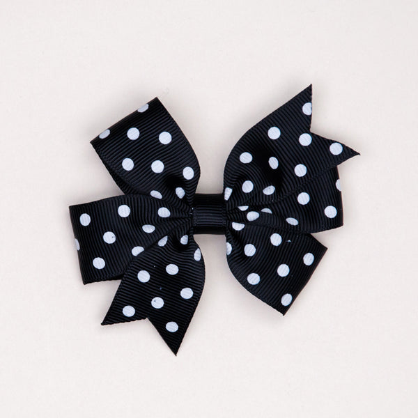 Kidz Outfitters 3 Inches Polka Dots Bow Hair Clips by Kidz Outffiters - KidzOutfitters.com Item  C1200002 Black