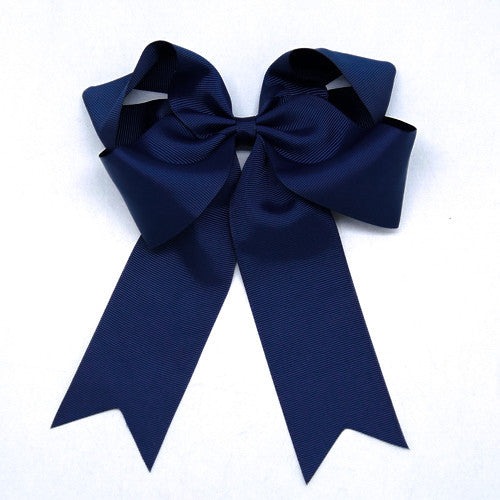 Kidz Outfitters 6 Inch Blue Grosgrain Ponytail Bows -  www.kidzoutfitters.com