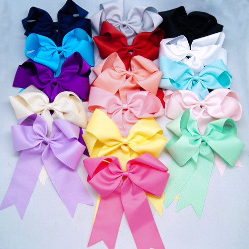 Kidz Outfitters 6 Inch Grosgrain Ponytail Bows -  www.kidzoutfitters.com