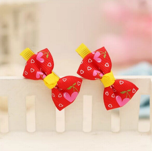 Heart Bows Hair Clips