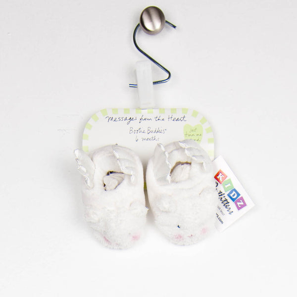 6 Months Unisex Baby Booties by Sandra Magsamen