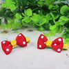 Kidz Outfitters Polka Dot Bow Hair Clips by Kidz Outffiters - KidzOutfitters.com Item  C1200033 Red & Yellow