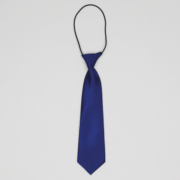 Kidz Outfitters Solid Necktie by Kidz Outffiters - KidzOutfitters.com Item  C1200039 Dark Blue