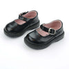 Shoes 4 Girls Circo Mary Jane Black  silver buckle on straps with hidden velcro closure, oxford styling, non-marking sole