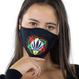 Marijuana Face Mask In Polyester Material, front view