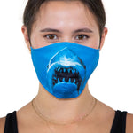 Adult Size Shark Face Mask In Polyester Material, front view