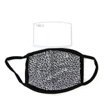 Silver Rhinestone Face Mask in Polyester Material, front view