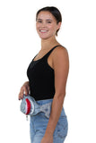 Premium Nylon Shark Fanny Pack with Gill Pockets, fanny pack style on model