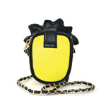 Pineapple Vinyl Shoulder Bag back view