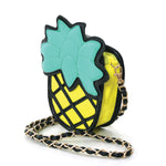 Pineapple Vinyl Shoulder Bag side view