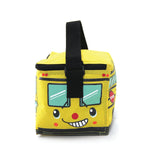 Yellow Bus Insulated Lunch Bag in Vinyl front view
