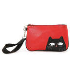 Red cat wristlet frontal view