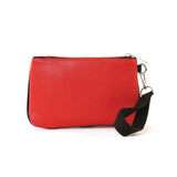 Red cat wristlet back view