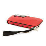 Red cat wristlet flat view