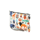 Tribal Print On Canvas Clutch Shoulder Bag, side view