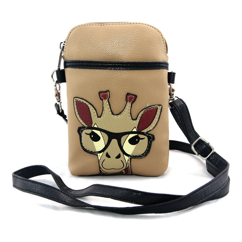 Giraffe Small Pouch Shoulder Bag in Vinyl Material front view