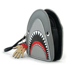 Scary Shark Wristlet with Chained Bloody Hand in Vinyl Material side view