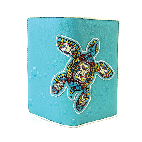Sea Turtle Wallet in Vinyl Material open frontal view