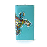 Sea Turtle Wallet in Vinyl Material front view