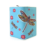 Dragonfly Wallet in Vinyl Material open front view