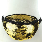 Gold/Black sequinned fanny pack
