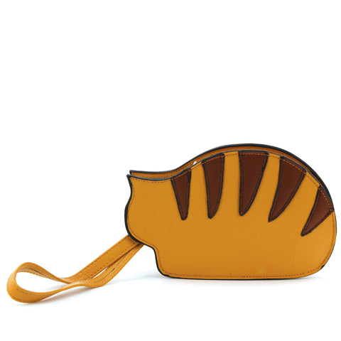 Resting Cat Coin Purse in Vinyl Material front view