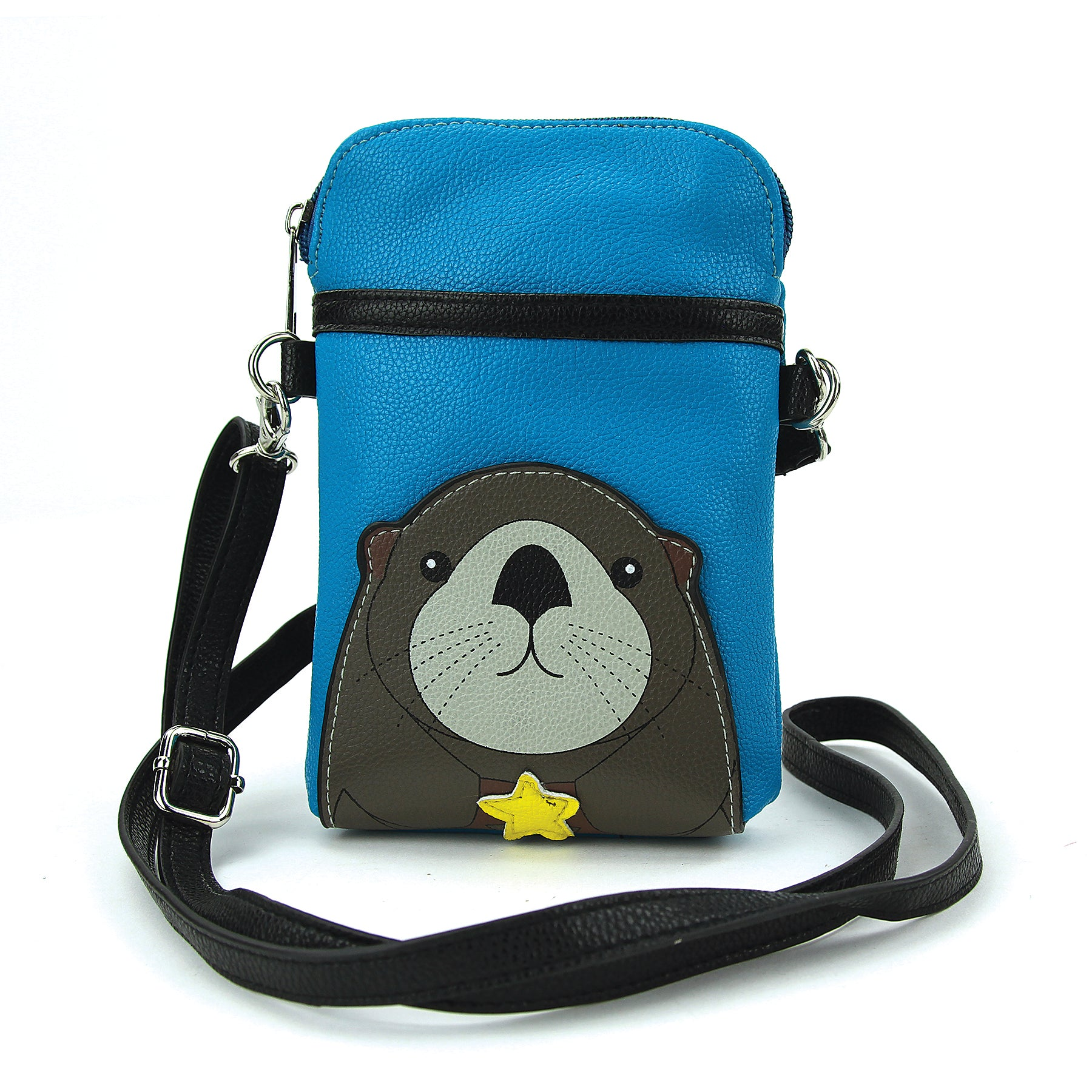 Sea Otter Crossbody Pouch in Vinyl front view