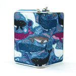 Sea of Whales Wallet/Wristlet in Nylon front open view