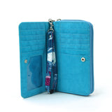Sea of Whales Wallet/Wristlet in Nylon interior view