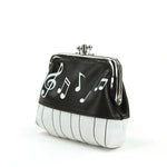 Musical Notes Coin Purse in Vinyl Material side view