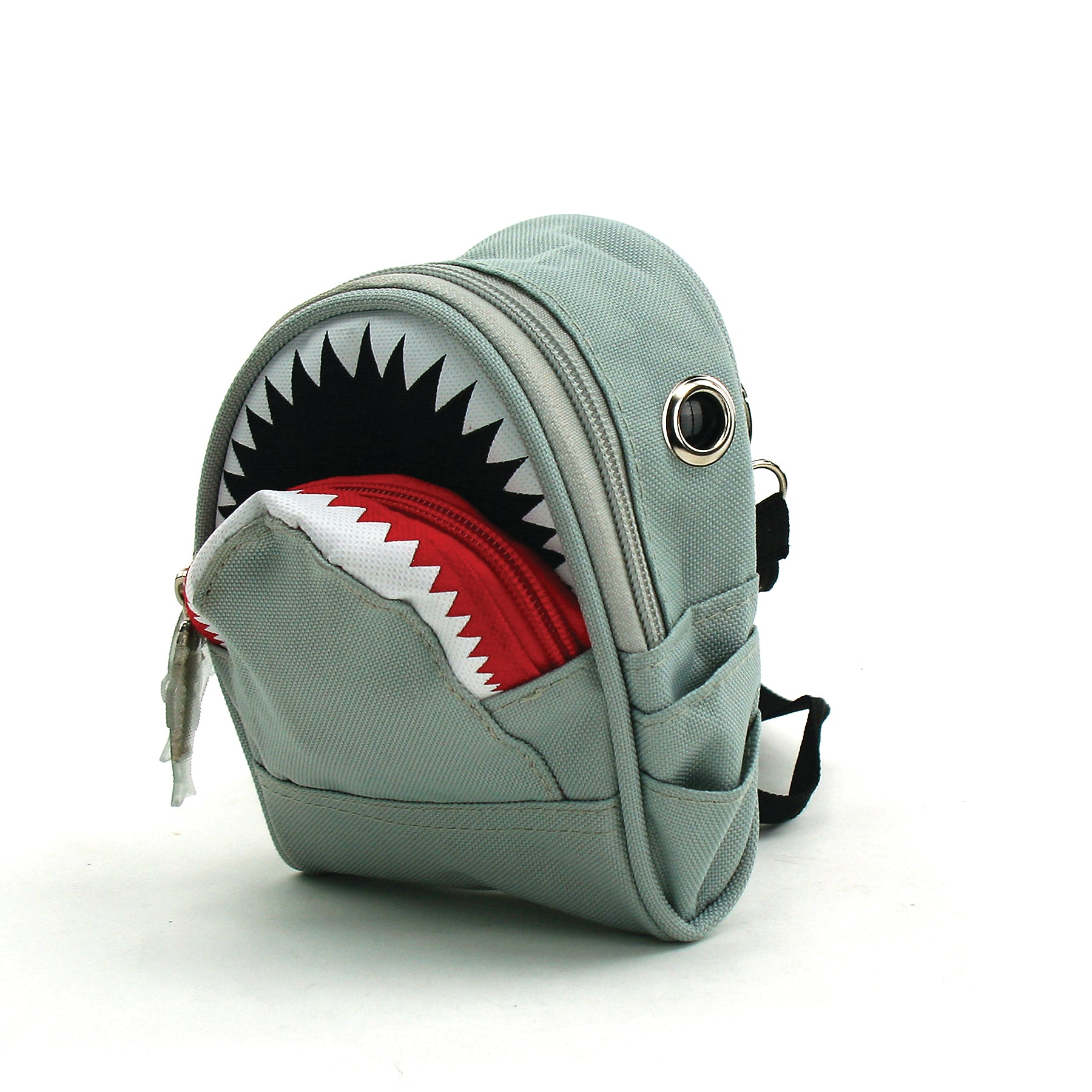 Killer Shark Pouch Crossbody Bag in Nylon side view