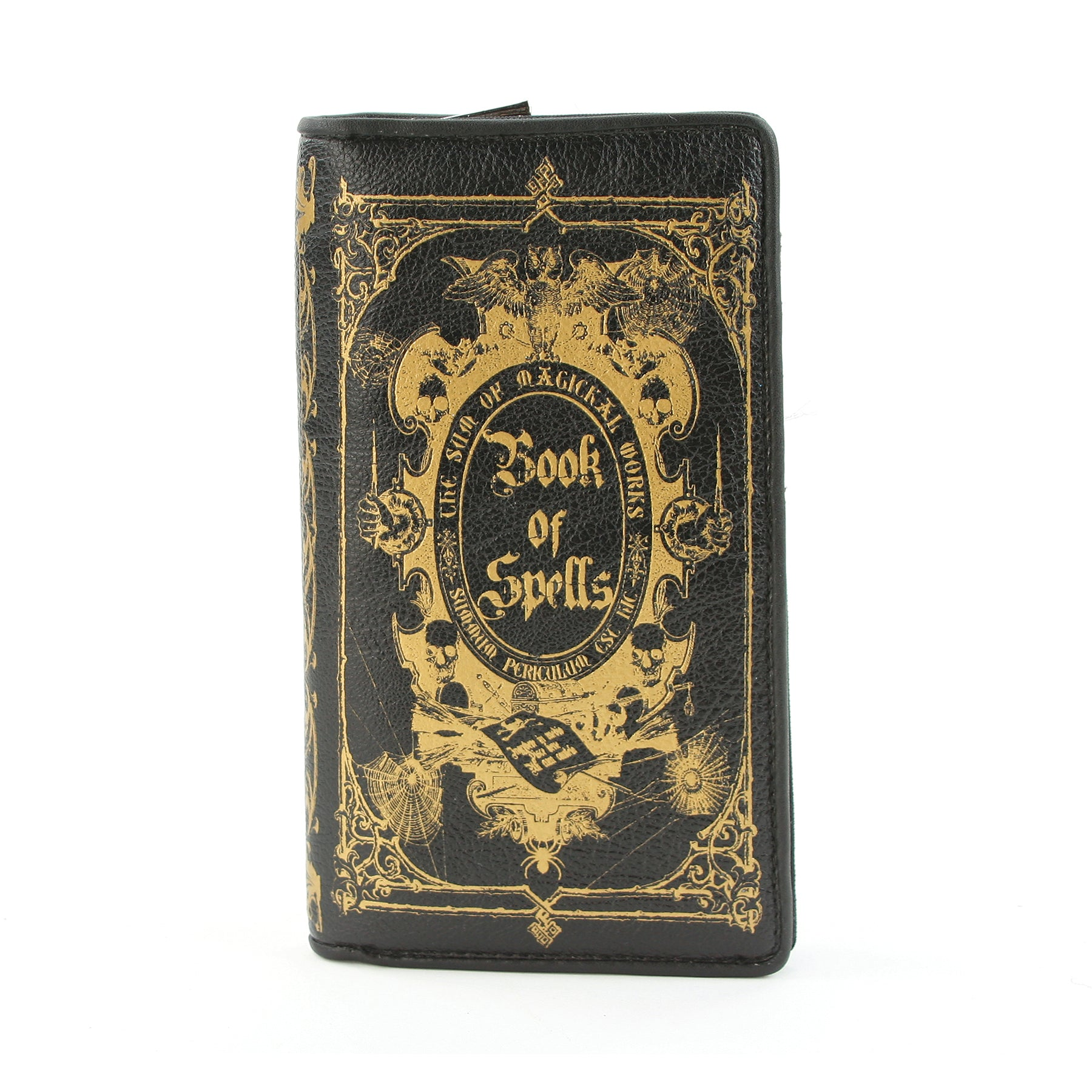 Book of Spells Wallet in Vinyl Material, closed front view