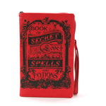 Book of Spells for Love Book Clutch Bag in Vinyl Material, front view