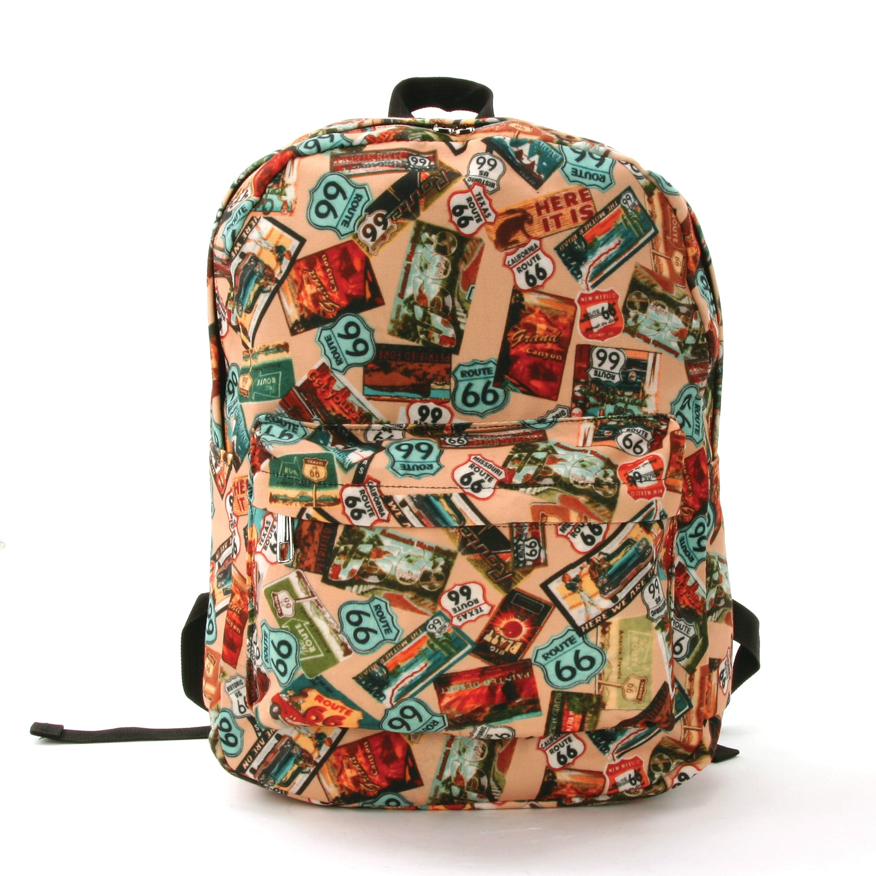 Route 66 Backpack in Polyester Material front view