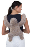 Sleepyville Critters - Sloth Mini Backpack, backpack style, back view on model