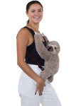 Sleepyville Critters - Sloth Mini Backpack, front backpack style on model
