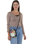 Sleepyville Criters-Pirate Owl In Vinyl, crossbody style on model