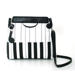 Piano Keys Handbag in Vinyl front view