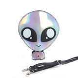Sleepyville Critters - Green Baby Alien Shoulder Crossbody Bag in Vinyl Material front view