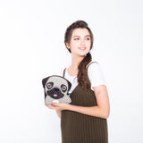 Sleepyville Critters - Adorable Little Pug Cross Body Bag in Vinyl Material, model